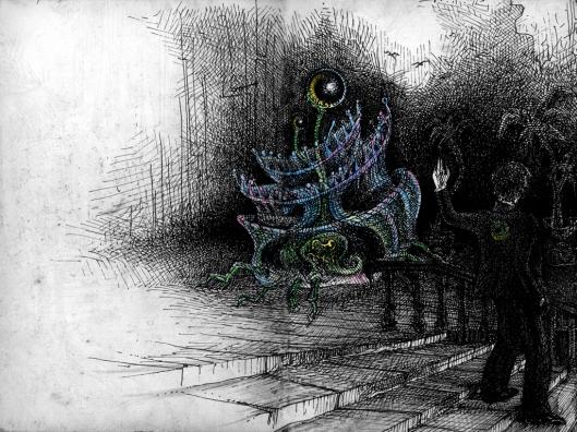 Der Drache verwandelt sich in eine seltsame Qualle