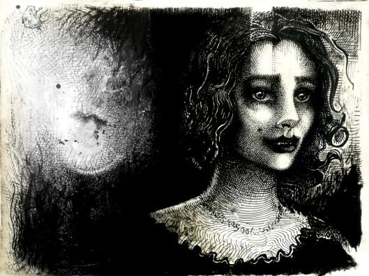 Mme Zeweçkasul, eine schöne jungen Dame, im Portrait