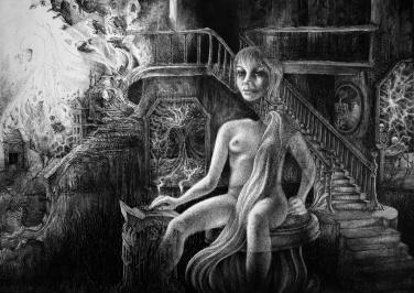 Billard Universum Skelett Geist Apokalypse Untergang Treppe (1521x1080) brillenschnitzel